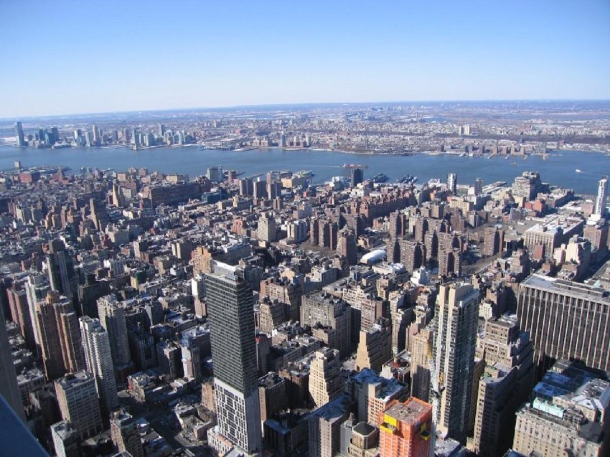 Vistas Desde La Terraza Piso 82 Del Empire State De Nueva